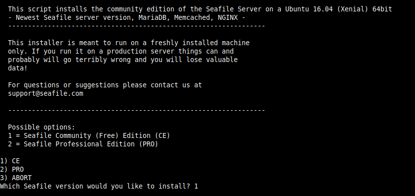Install Seafile Community Edition on Ubuntu