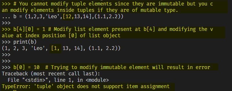 Modify Mutable Elements