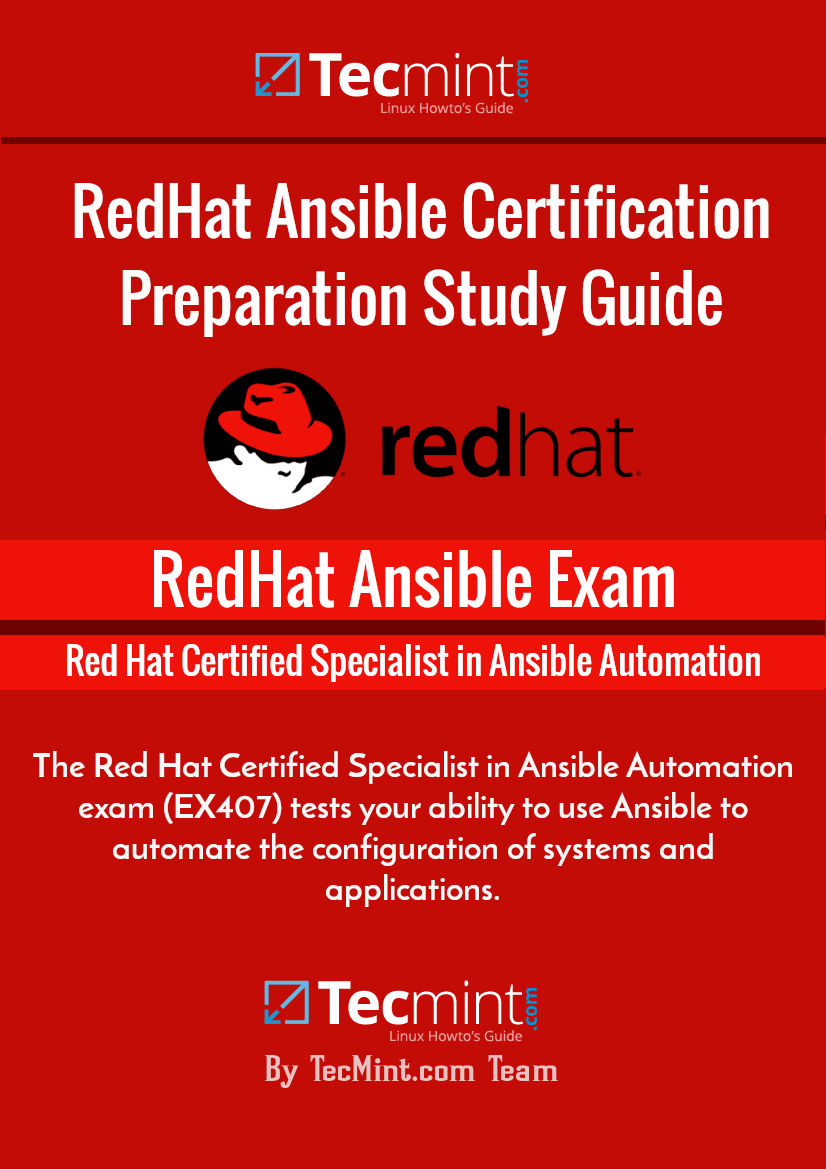 RedHat Certified Specialist in Ansible Automation Study Guide
