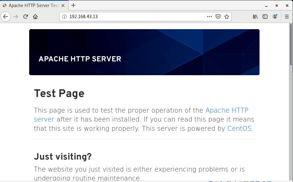 Verify Apache Web Page