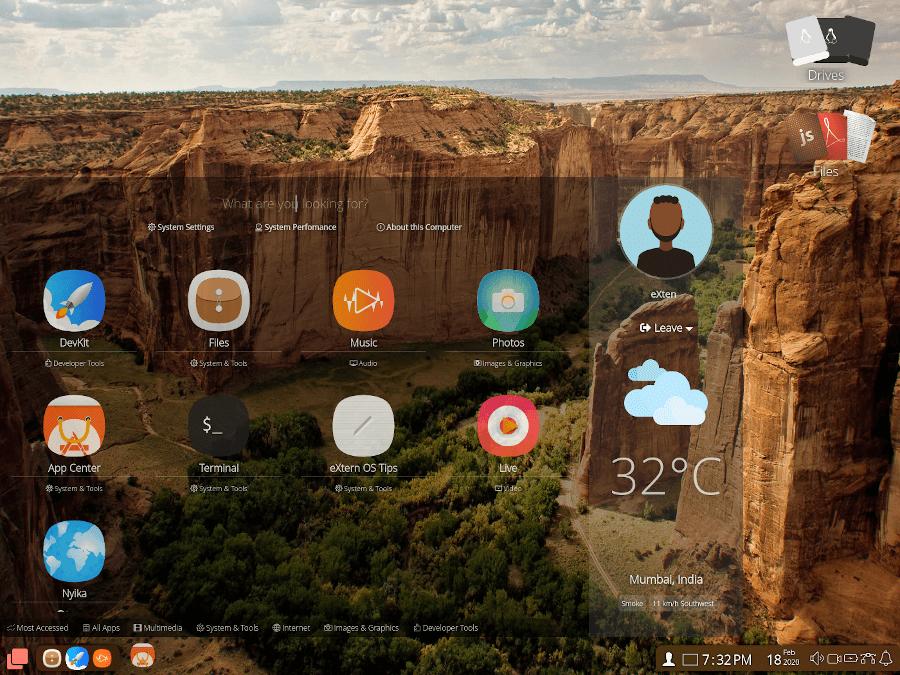 eXternOS Apps