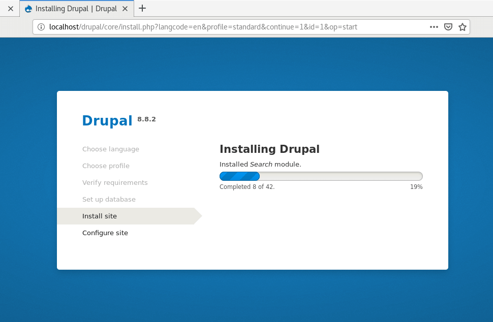 Drupal Installation on CentOS 8