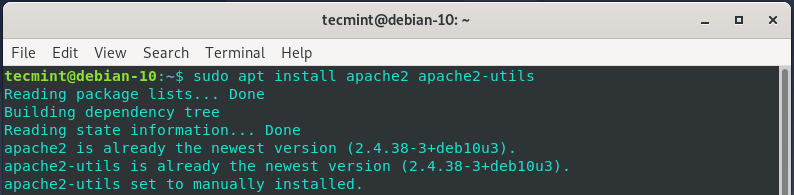 Install Apache on Debian