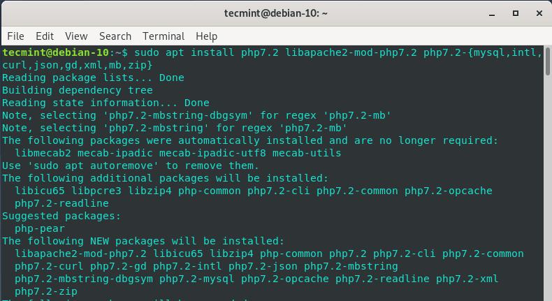Install PHP in Debian