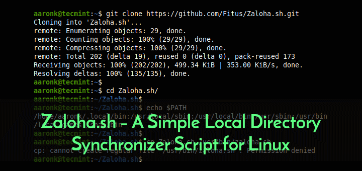 Local Directory Synchronizer for Linux