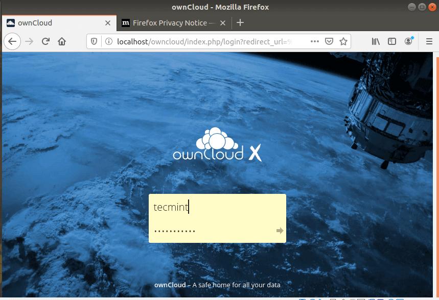 OwnCloud Admin Login