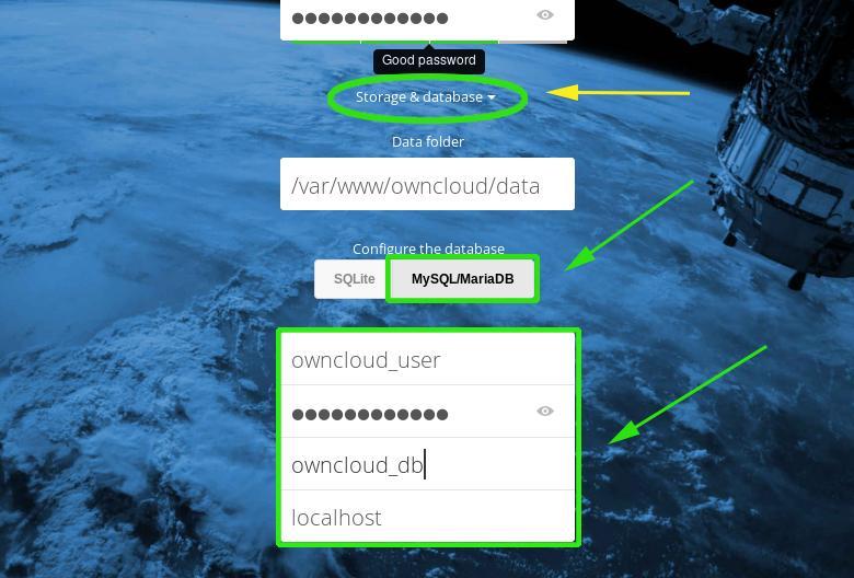 OwnCloud Database Details