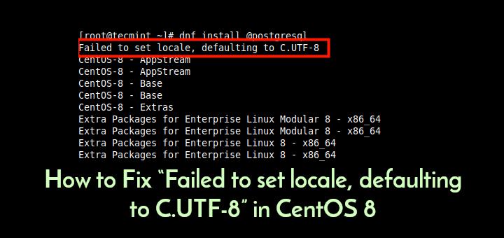 Set UTF8 in CentOS