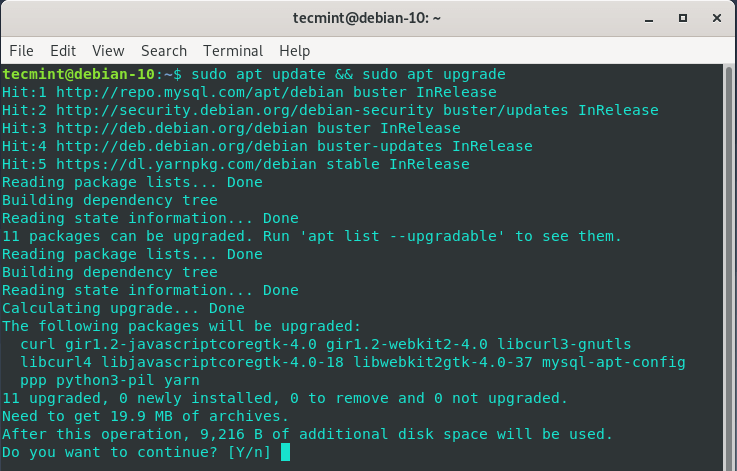 Update Debian System Packages