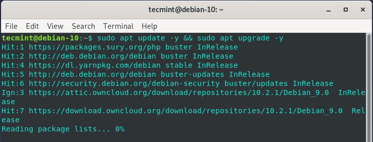 Update Debian System