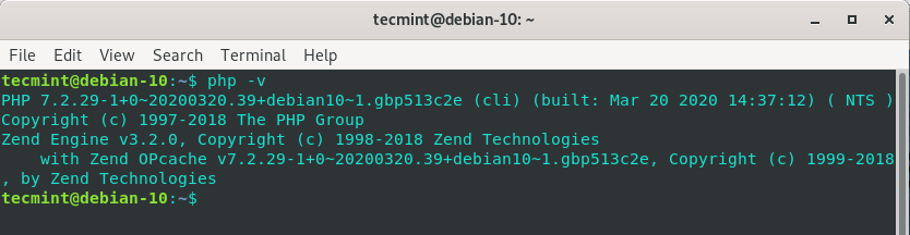 Verify PHP in Debian