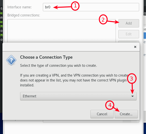 Choose Ethernet as Connection Type
