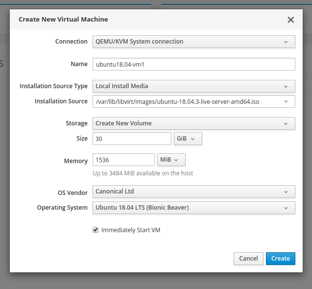 Add New Virtual Machine in KVM