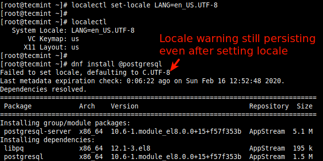 Failed to set locale, defaulting to C.UTF-8