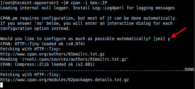 Configure CPAN Automatically