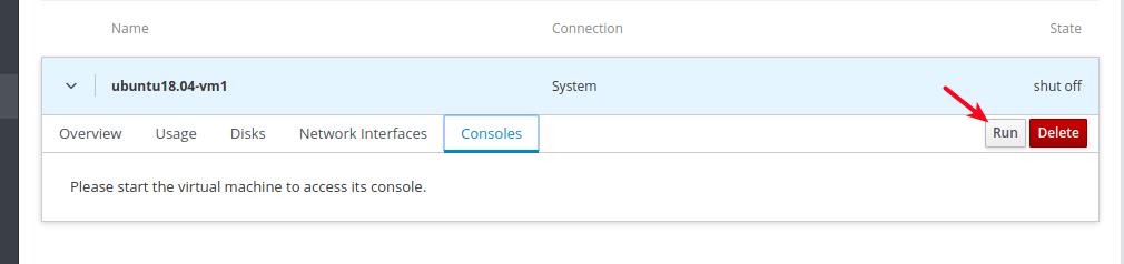 Run VM Console