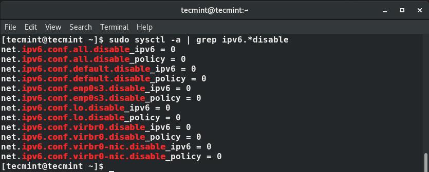 Check IPv6 Support in RHEL 8