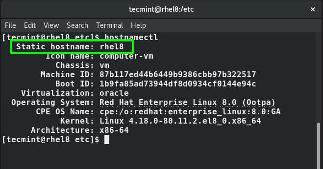 Check System Hostname