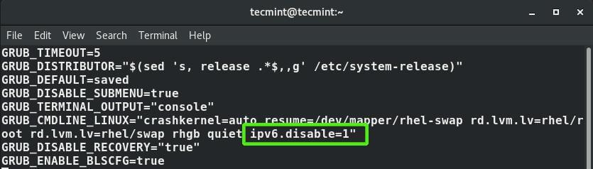 Disable IPv6 Address Permanently