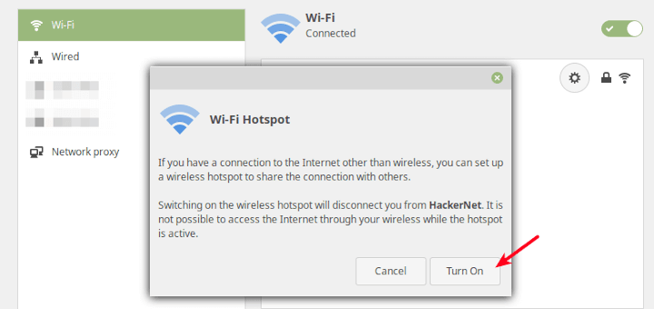 Share Internet in Linux