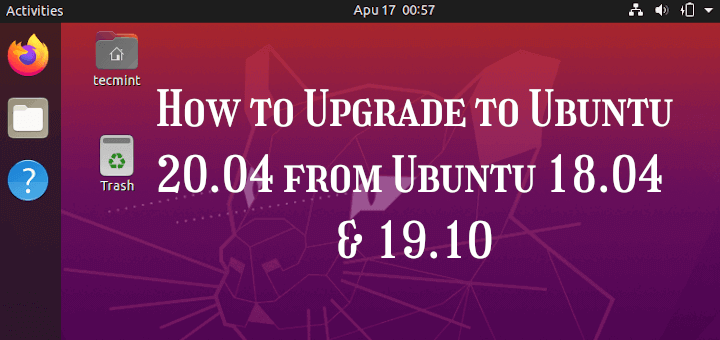 Upgrade to Ubuntu 20.04