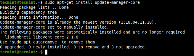 Install Ubuntu Update Core Manager