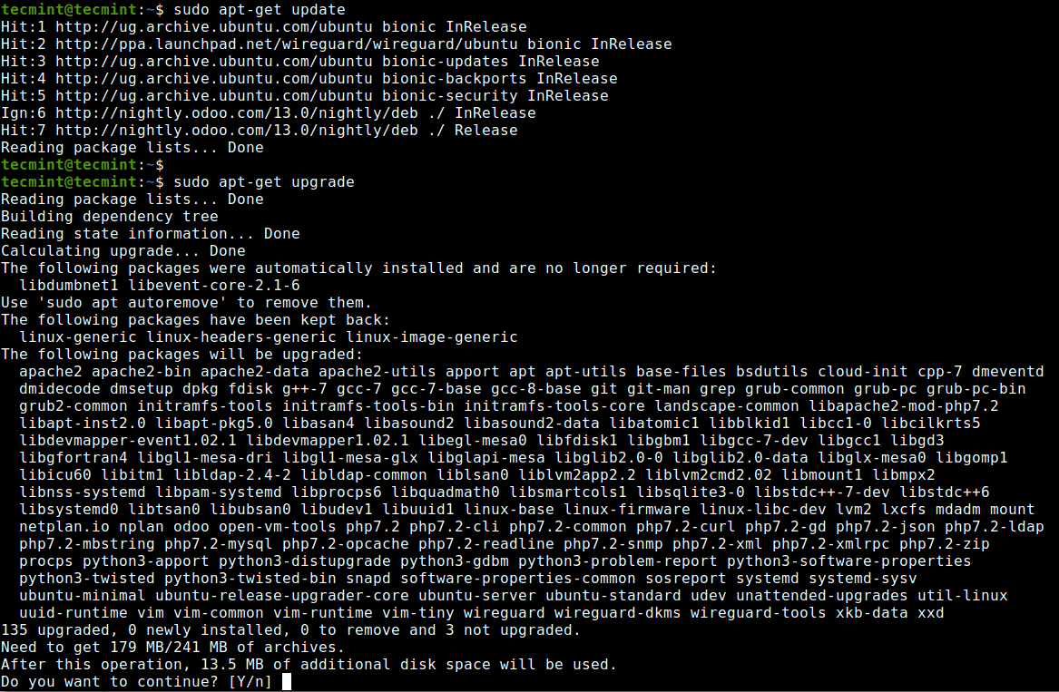 Install Updates on Ubuntu Server
