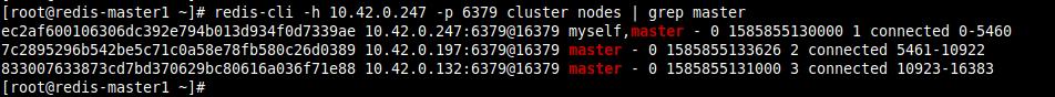 List Redis Cluster Masters