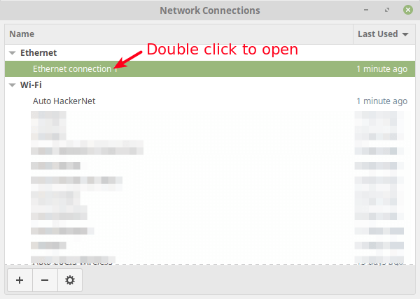 Select Network Connection Interface