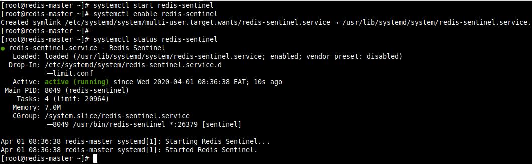 Start Redis Sentinel Service