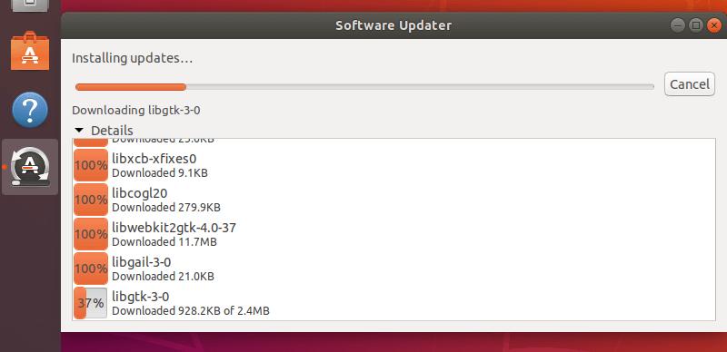 Installing Ubuntu Updates