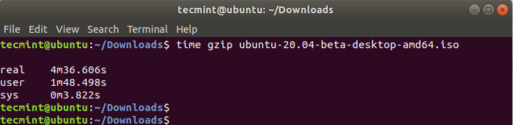 Check Gzip Compression Time