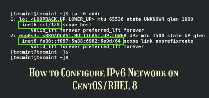 Configure IPv6 Network on CentOS