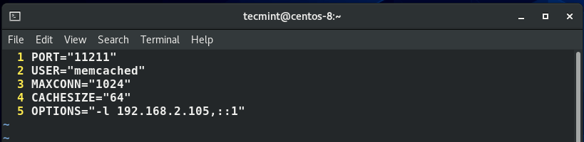 Configure Memcached on CentOS 8