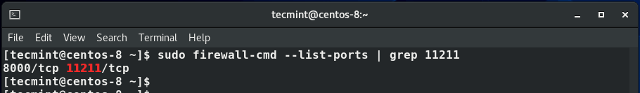 Confirm Memcached Port