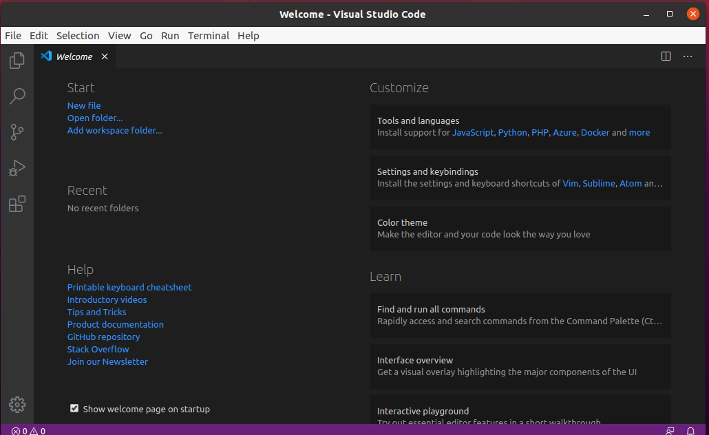 Install Visual Studio Code in Ubuntu