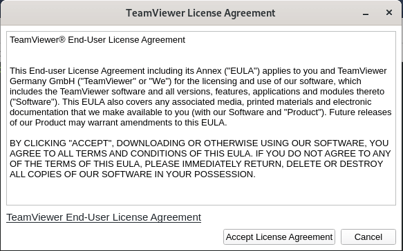 TeamViewer License Agreement