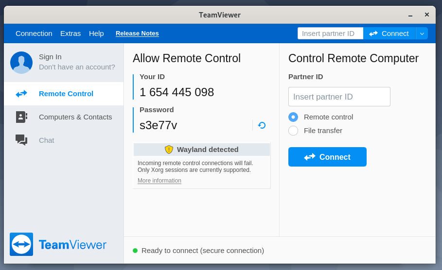 TeamViewer Running in Debian