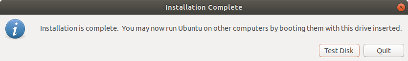 USB Disk Creation Complete