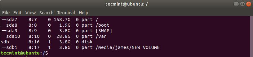Verify USB Block Device Volume