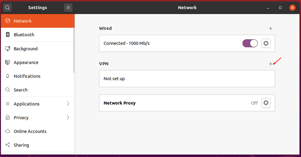Add New VPN Setting