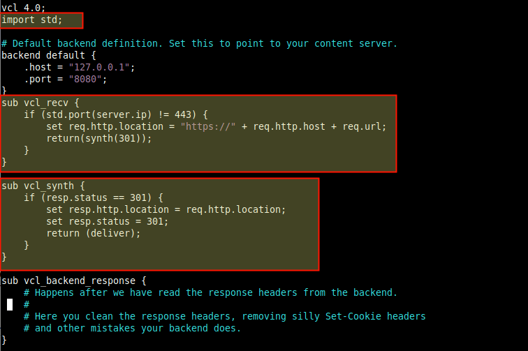 Configure Hitch to Redirect HTTP to HTTPS