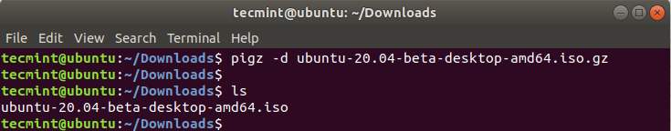 Decompress Files in Linux