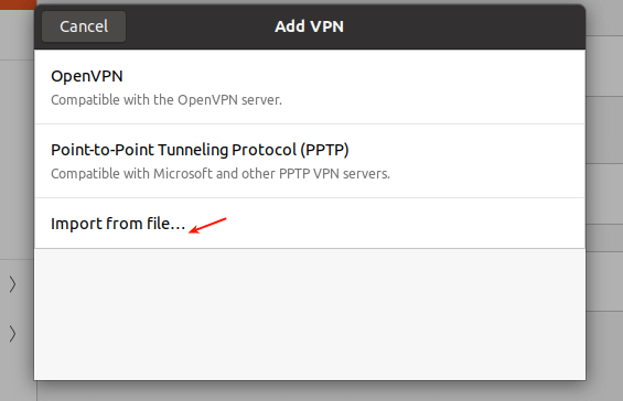 Import VPN Settings