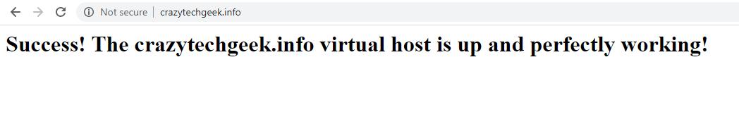 Check Apache Virtual Host for Website