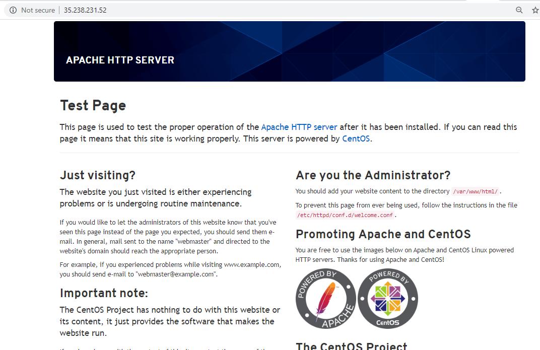 Check Apache Webpage