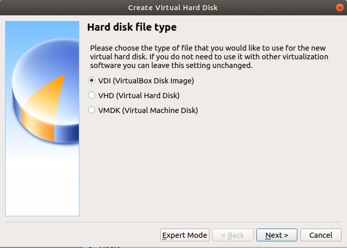 Create VirtualBox Disk Image
