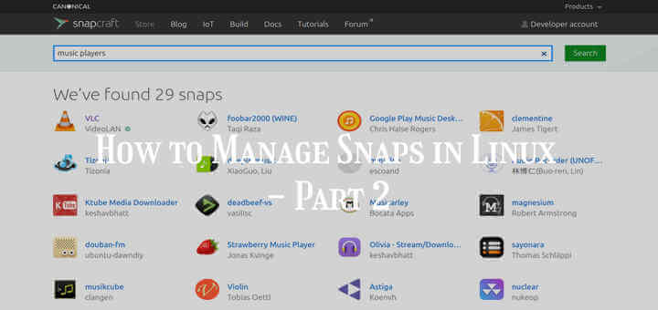 Manage Snaps in Linux