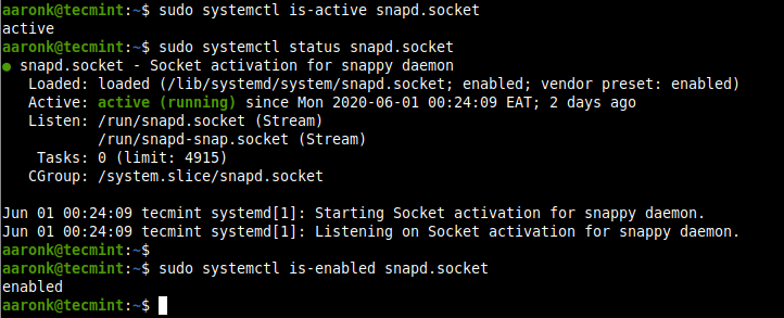 Check Snapd Service Status