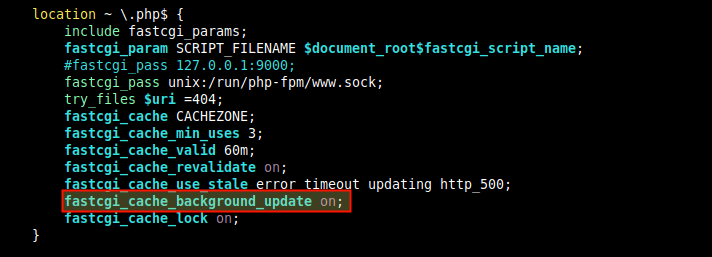 Enable Cache Background Update